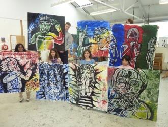 Large portrait workshop
