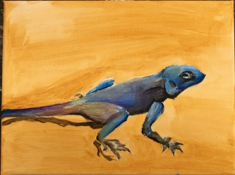 Lizard painting